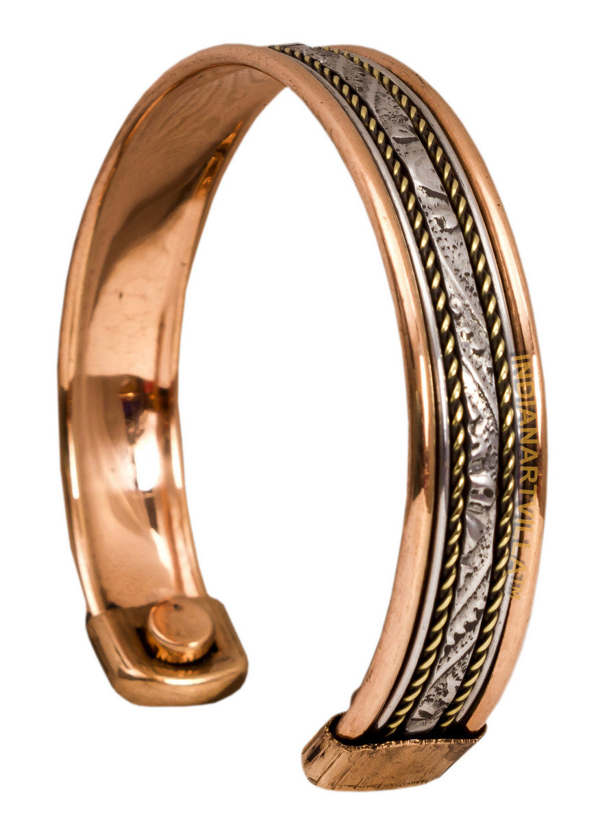 Copper Kada with Magnet - 2 cms