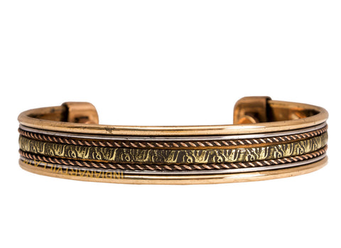 Copper Traditional Design Kada Bracelet | Relieving Arthiritis Rheumatic Symptoms | Width 2 Cms