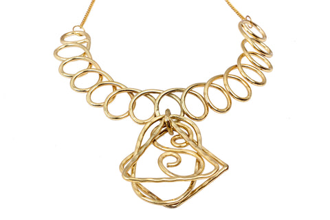 Brass Handmade Neckpiece necklace, Modern Stylish Design Jewellery