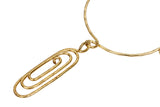 Brass Chain Choker Necklace with Muttilayer Designer Pendant, Perfect for Girls in Parties