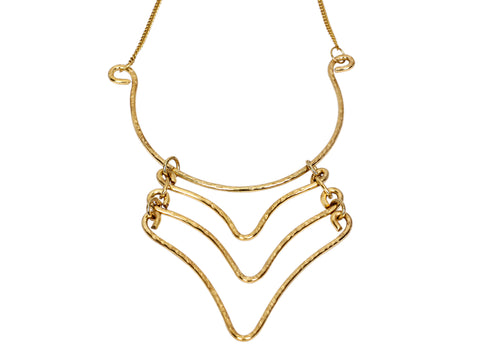 Brass Handmade Necklace Neckpiece, Morden Designer Jewellery