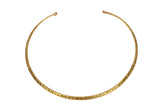 Brass Handmade Neckring Neckpiece, Designer Jewellery, Team Up with Stylish Indo Western Clothes