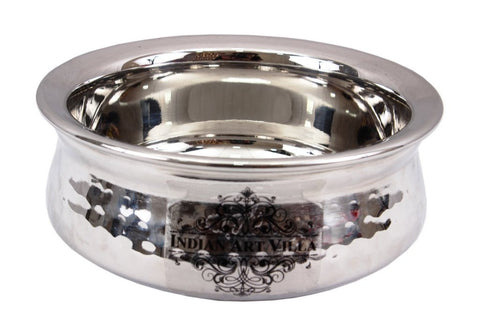 Stainless Steel Hammered Dish Serving Handi