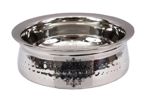 Steel Hammered Design Serving Handi Bowl