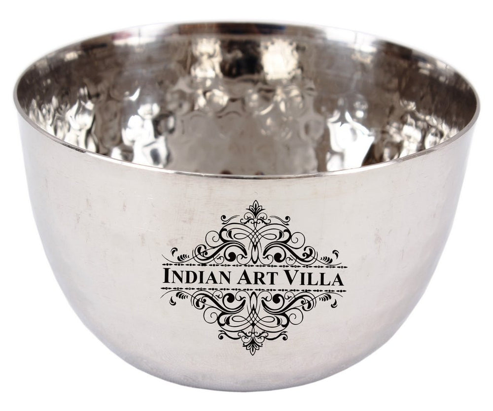 Steel Hammered Design Bowl 200 ML