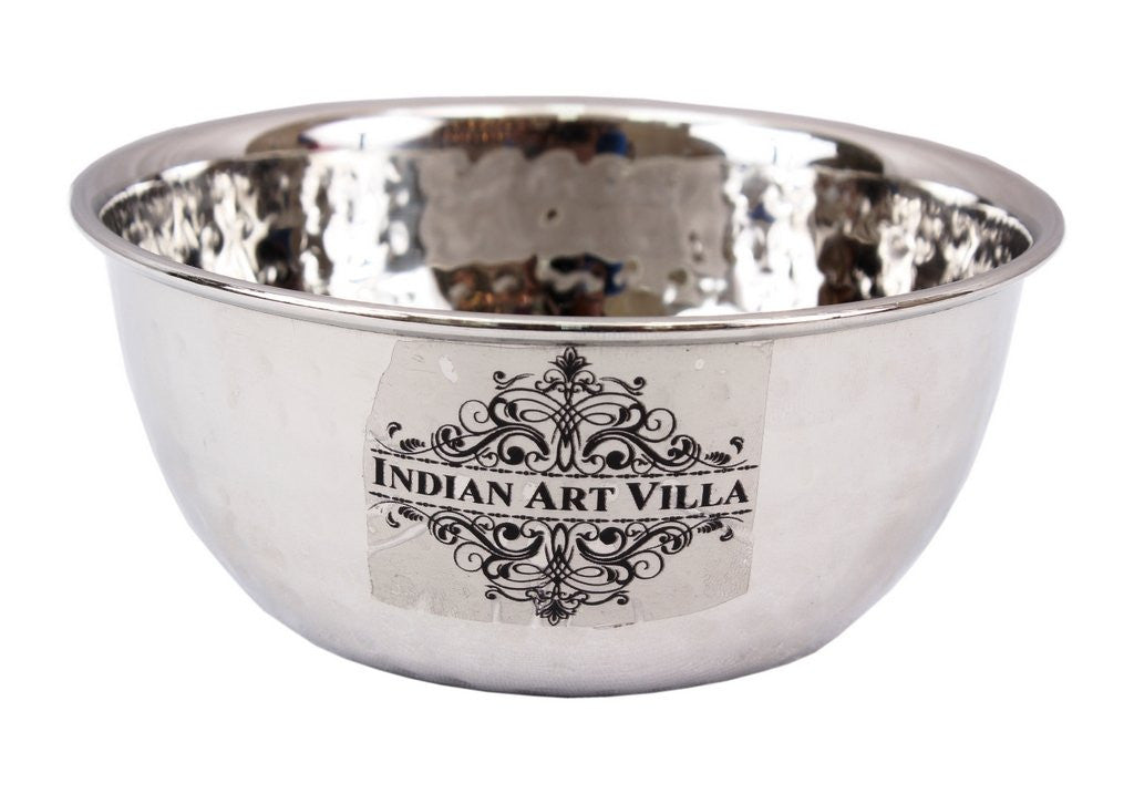 Stainless Steel Soup Bowl 350 ML - Serving Dal Curry Vegetable Dinnerware