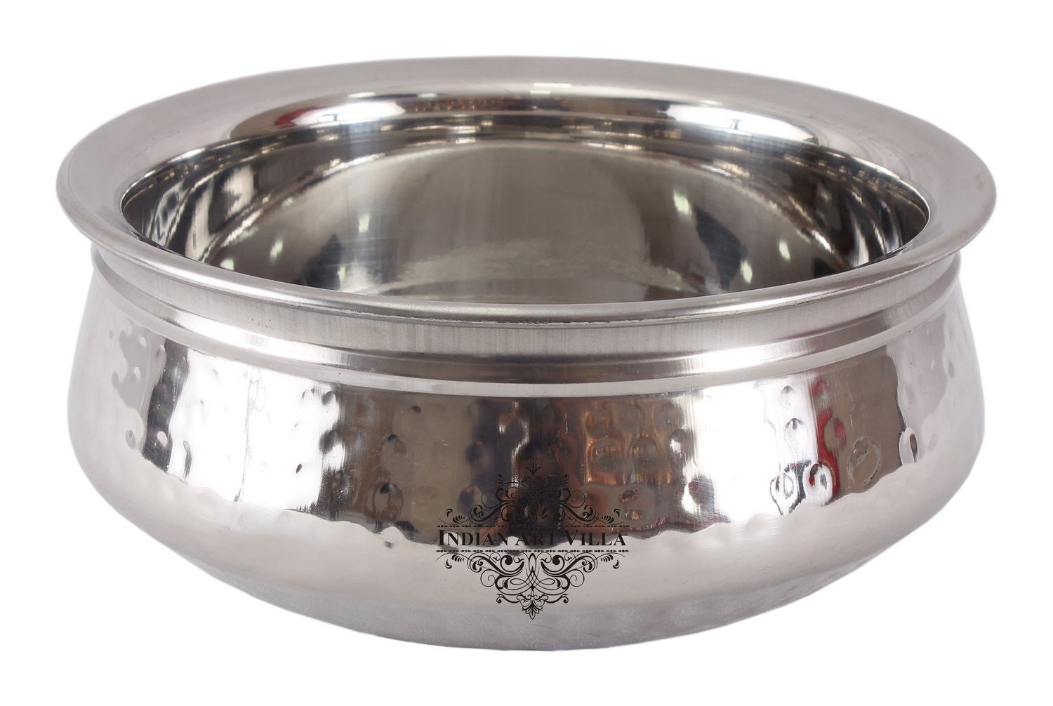 Steel Single Side Hammered Design Handi Bowl