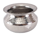 Steel Serving Punjabi Hammered Design Handi