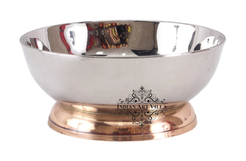 Steel Dessert Bowl with Copper Stand
