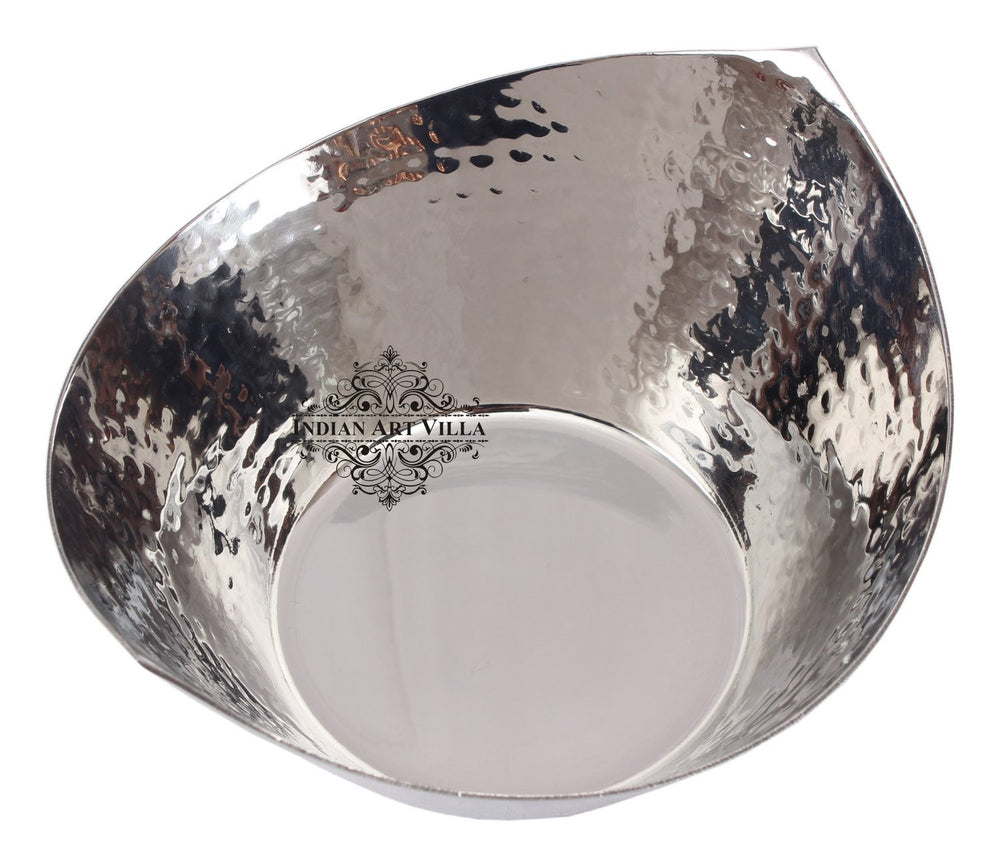 Steel Hammered Design Cut Beetel Bowl
