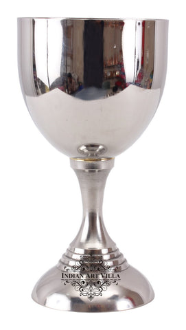 Steel Goblet Wine Glass with Stand -270 ML