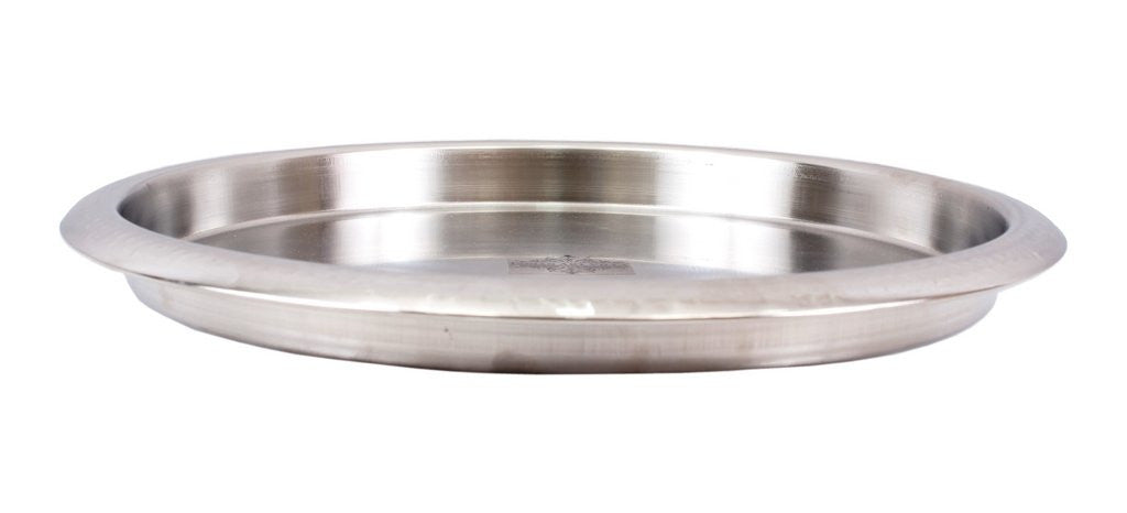 Steel Hammered Design Bar Tray Plate -34 cms Diameter