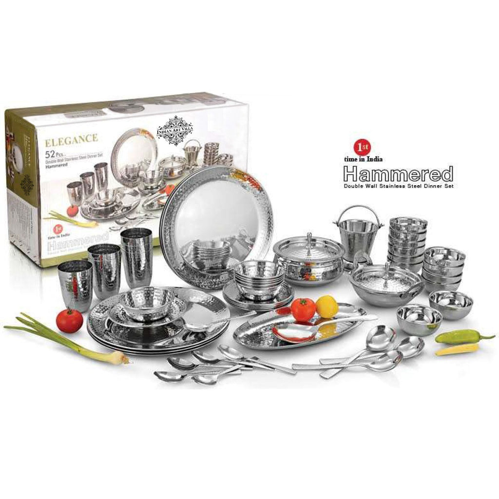 Royal Stainless Steel Dinner Set, 52 Piece