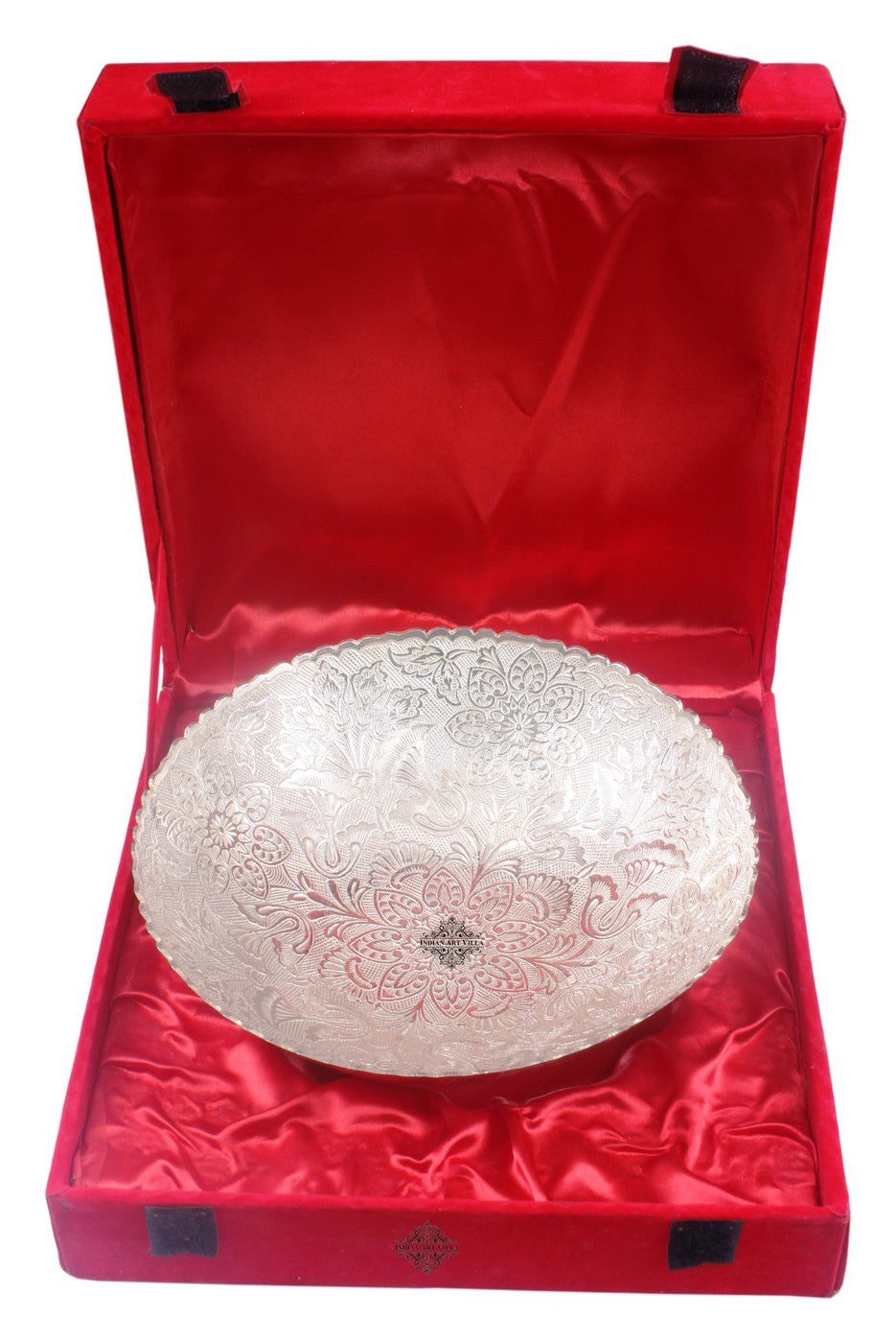 Silver Plated Handmade Floral Design Bowl 1750 ML