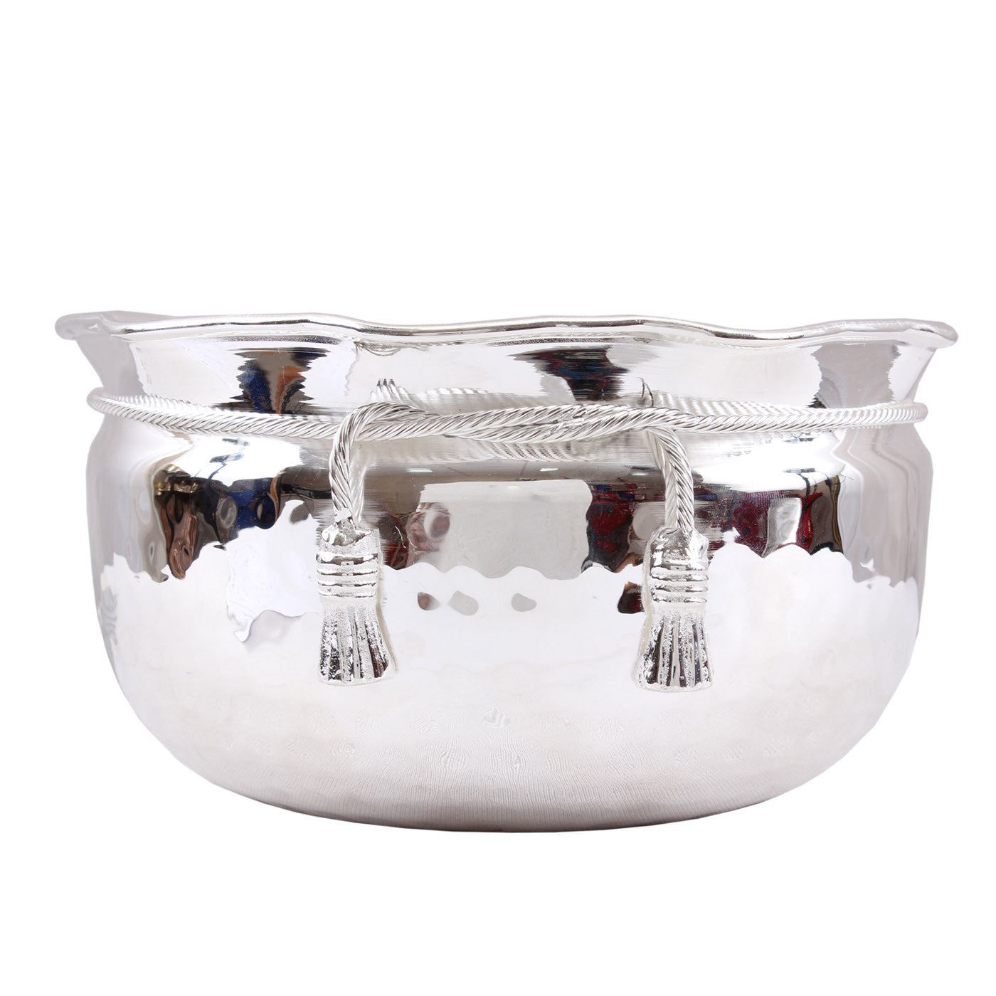 Silver Plated Handmade Hammered Design Big Bowl 2500 ML