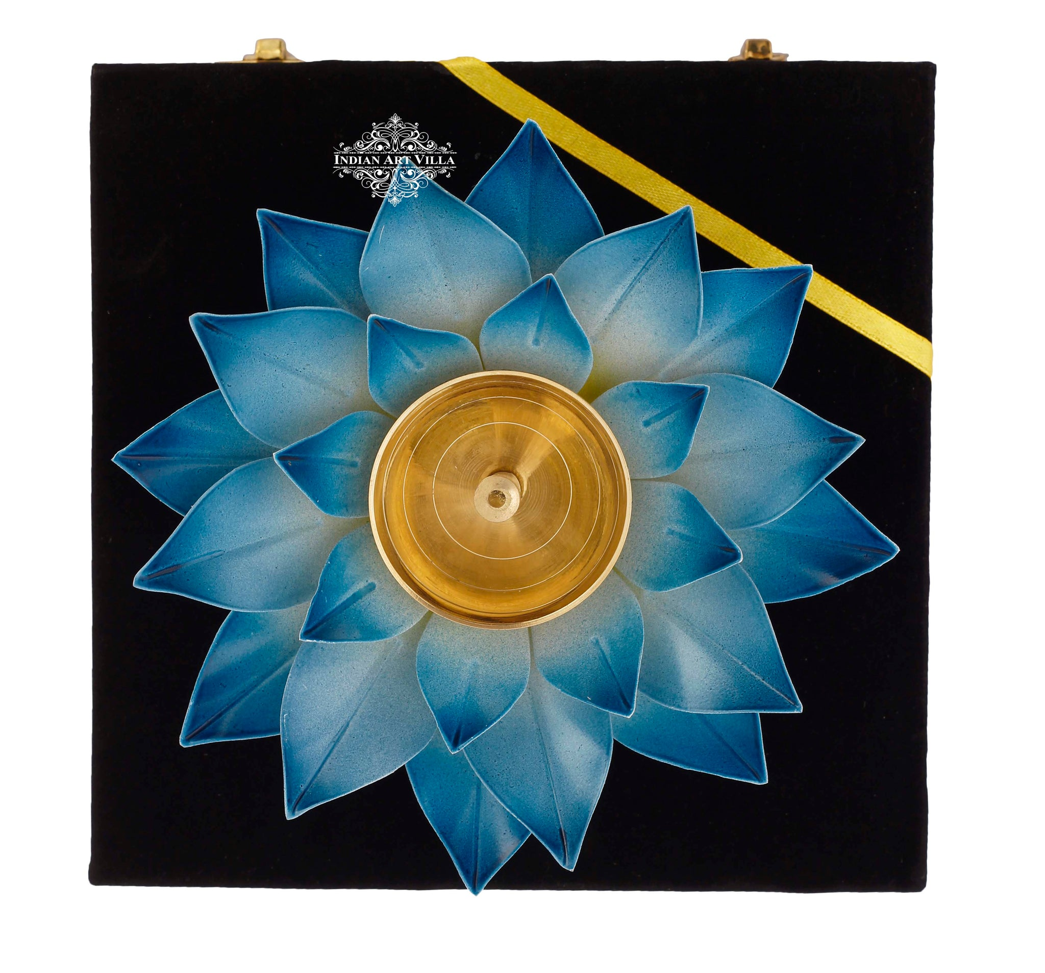 Silver Gold & Copper Plated Lotus Design Diya Deepak