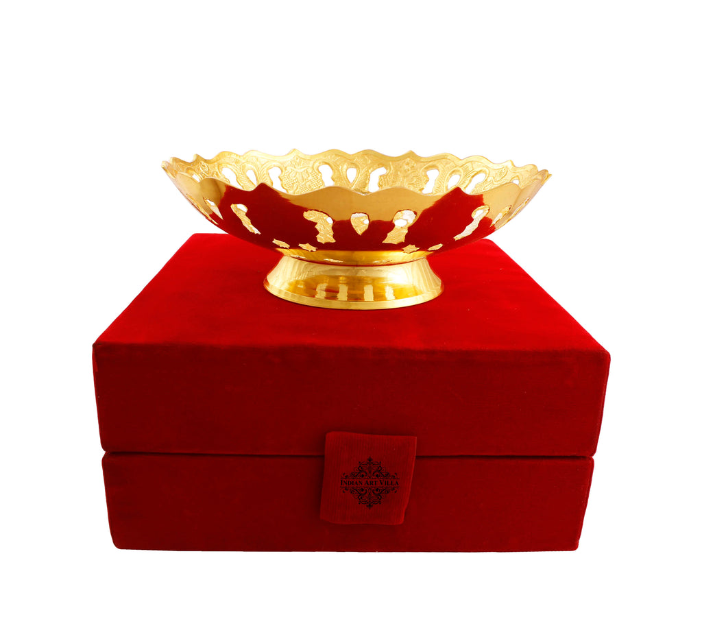 Silver & Gold Plated Designer Bowl, 6'' Inch