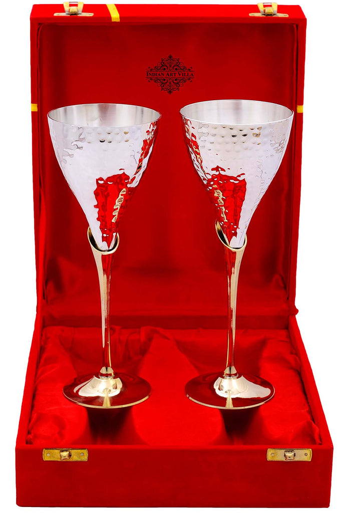 Silver Plated Flute Wine Glasses