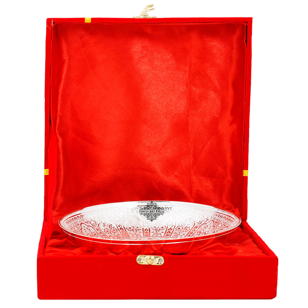 "Silver Plated Designer Bowl, Width:- 7.5"" Inch"