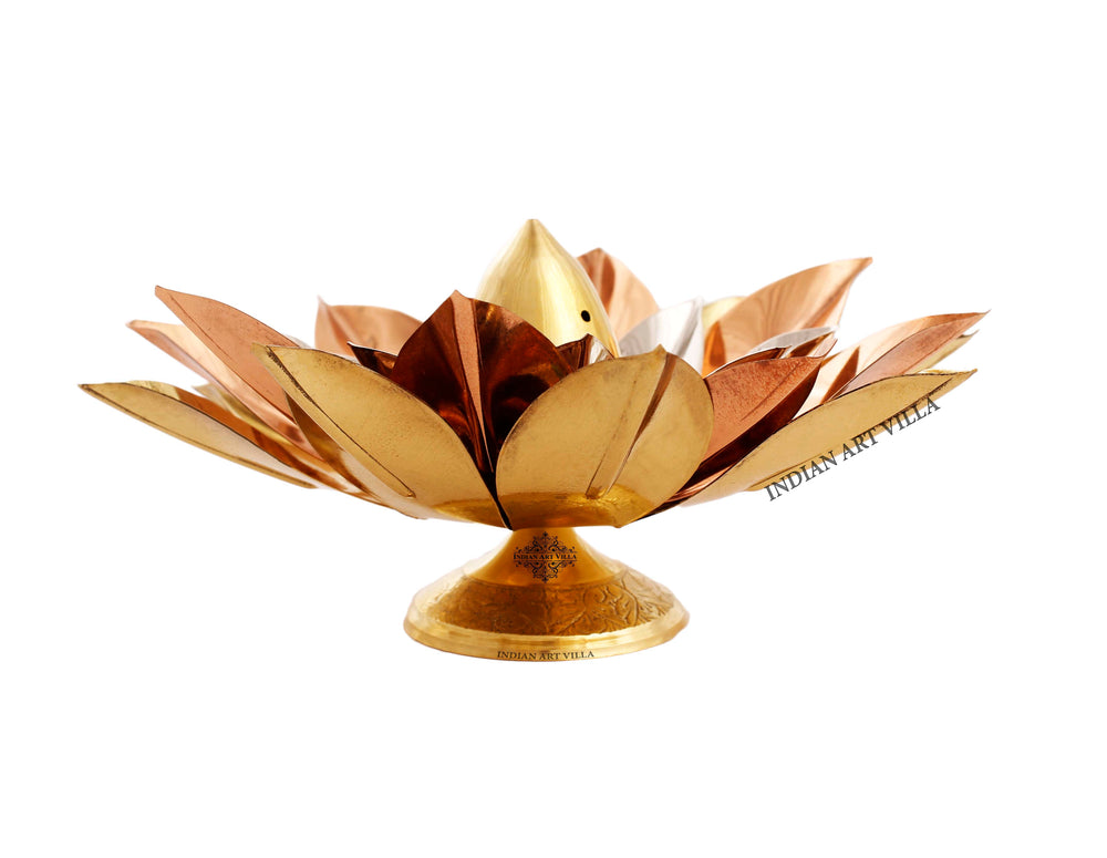 Copper Brass Silver Plated Agarbati Stand, 7'' inch