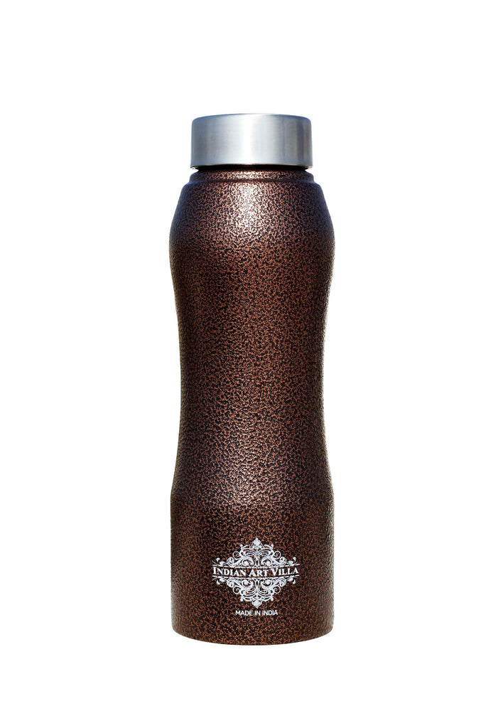 Steel Bottle Ergonomic Design With Steel Cap Antique Copper 750 ML