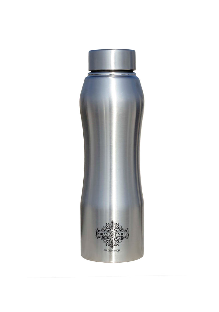 Steel Bottle Ergonomic Design With Steel Cap Plain Matt 750 ML