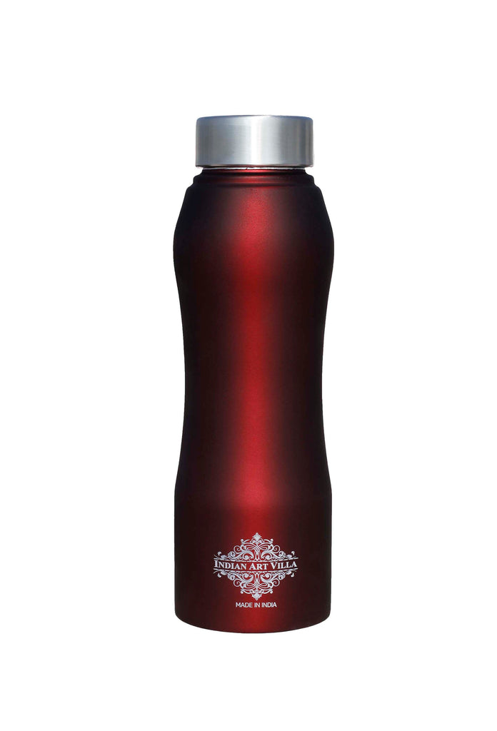 Steel Bottle Ergonomic Design With Steel Cap Wine Matt 750 ML