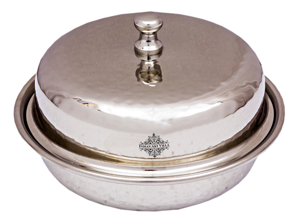 Steel Serving Bowl with lid