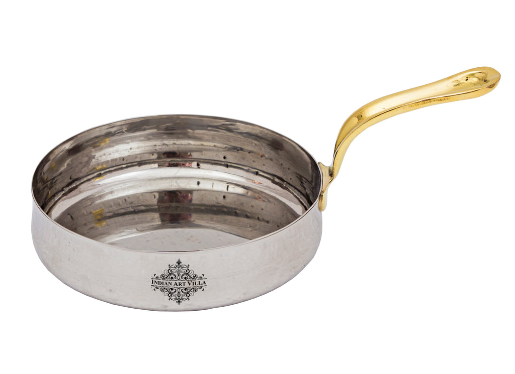 Stainless Steel Curved Design Serving Sauce Pan