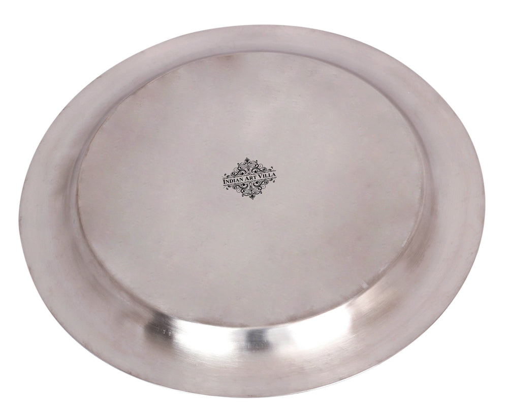 Steel Plain Design Round Plate Tray