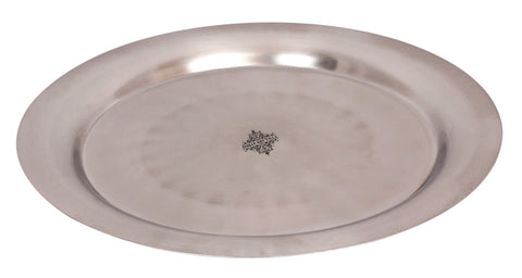 Steel Plain Round Plate Tray Width 13'' inch