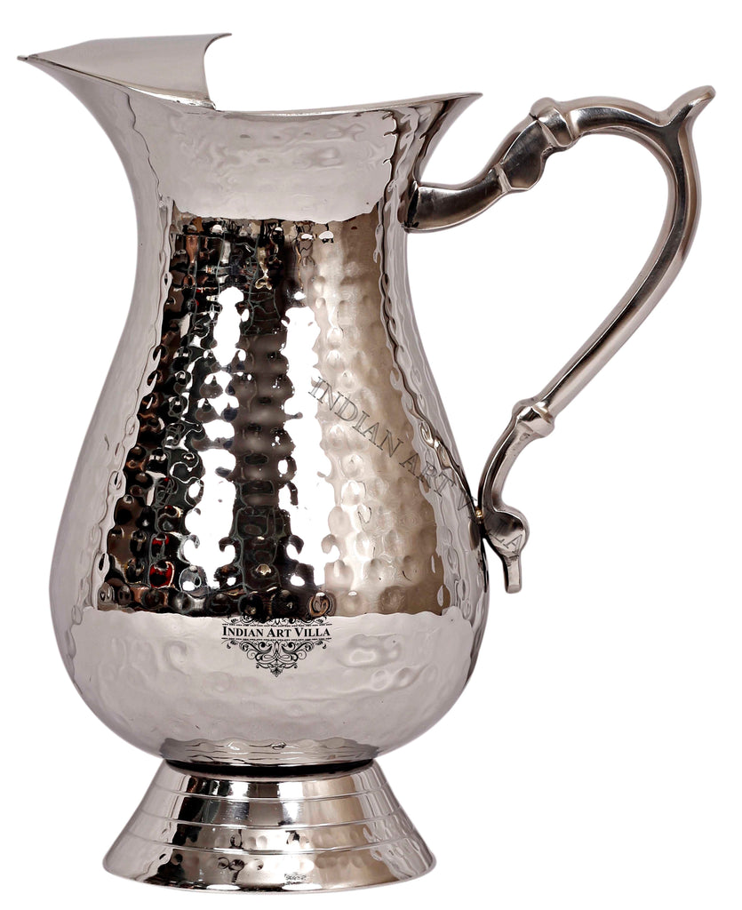 Steel Hammered Design Jug Pitcher