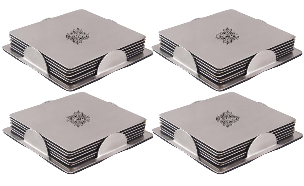 Steel 6 Piece Coaster with 1 Holder