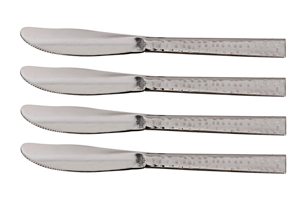 Handmade Hammered Premium Quality Stainless Steel Knife Cutlery,Silver