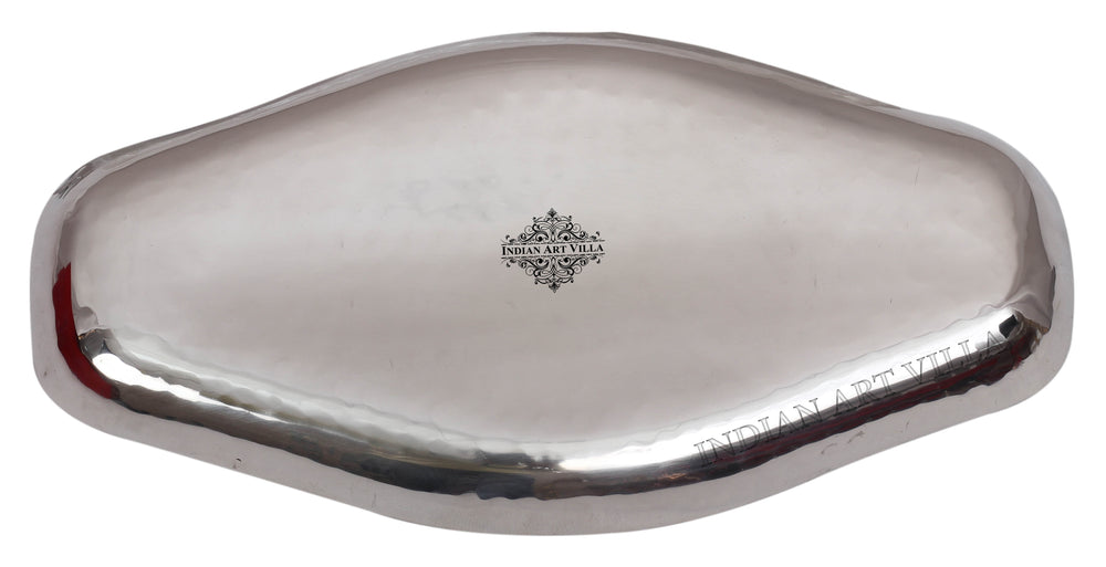 Steel Hammered Abstract Designer Tray Platter