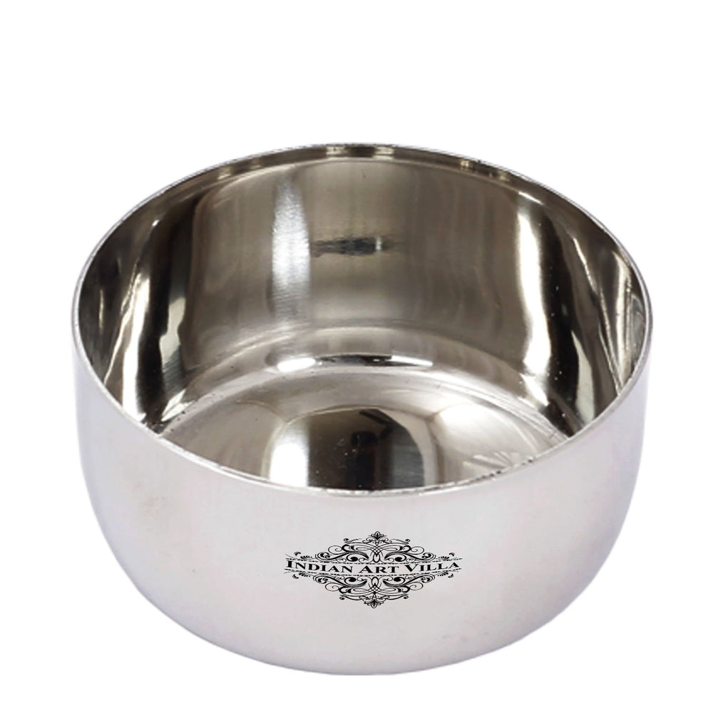 Stainless Steel Bowl Katori Serving Dinner Vegetable Dessert Rayta Volume 120 ML