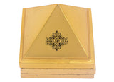 Handmade Brass 3 Stage Vastu Pyramid with Yantra