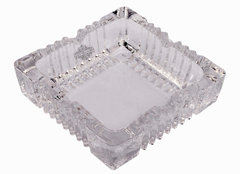 "Transparent Crystal Square Bowl Plate, For Vastu Torstoise | Width 7.1"" Inch and 4.7"" Inch"
