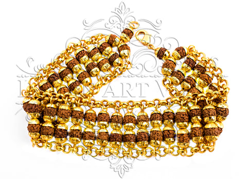 Brass Rudraksh Bracelete, For Men/Women