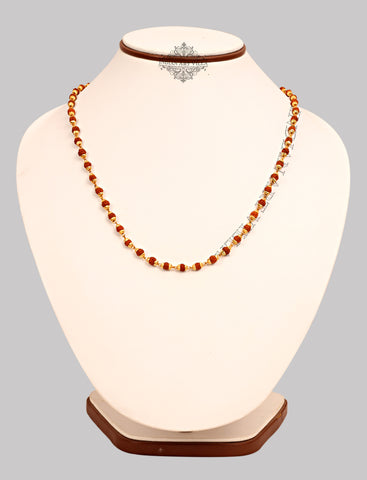 Big Rudraksh Necklace with Brass Bidding, Jewellery