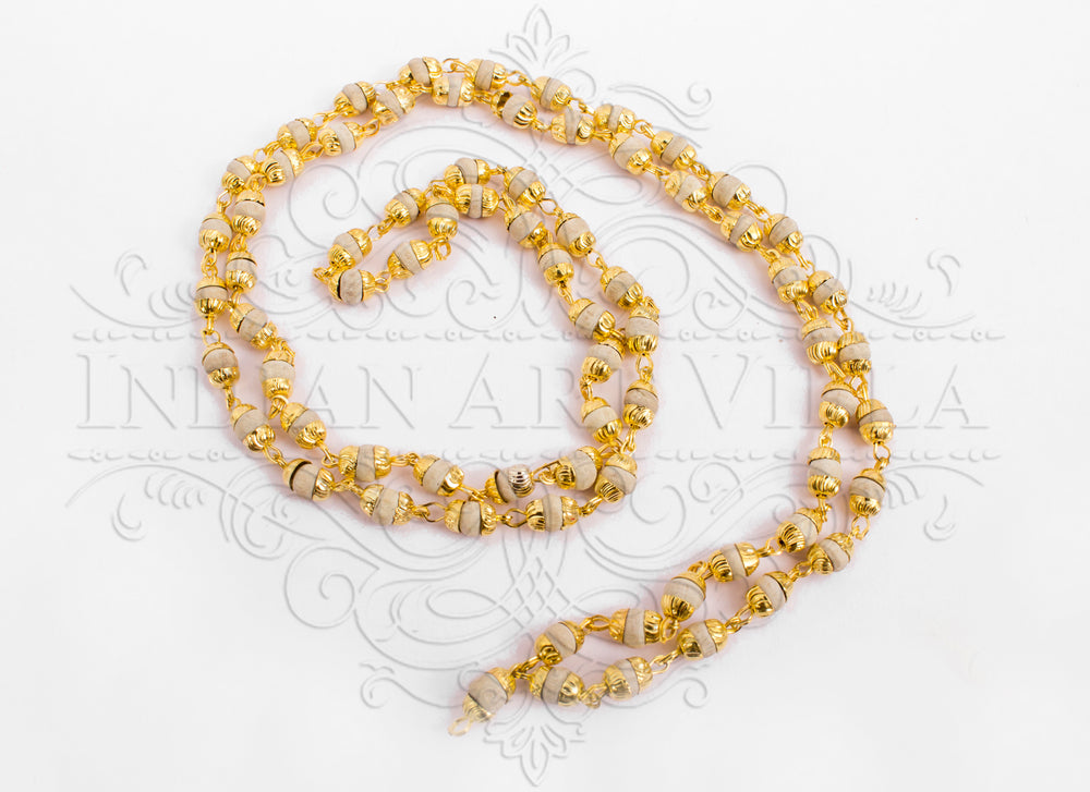 Brass Bidding Tulsi Mala Necklace, Unisex Daily Wear mala