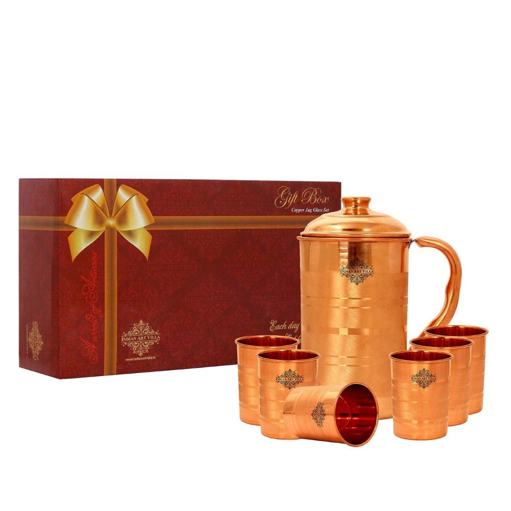 Copper Luxury Jug & Glass with Box