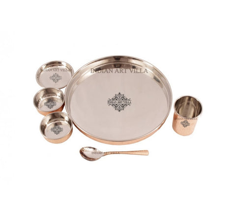 Steel Copper 6 Piece Kitchen Dinner Set