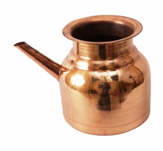 Pure Copper Handmade Plain Design Ram Jhara Pot 1 L | 1.5 L