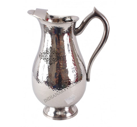 Stainless Steel Handmade Royal Hammered Design Jug Pitcher 2000 ML
