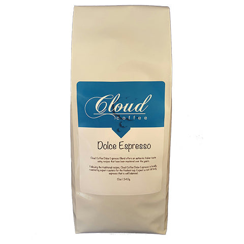 Cloud Coffee Dolce Espresso Blend 12 oz - Coffee & Tea - Beans 2 Machines