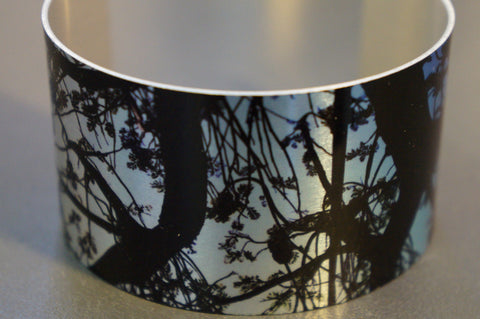 Aluminium Cuff Flora design by Barracuda Studio Gallery made in Australia / Warren Iannello