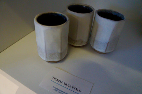 Ceramic cups handmade in Australia by Potter Denise Mcdonald