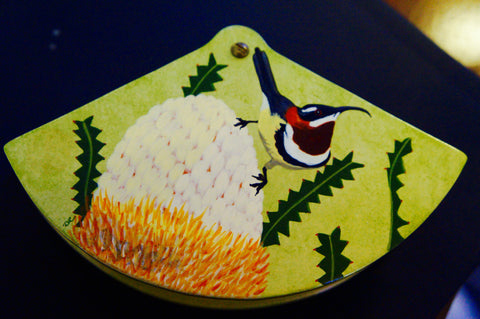 Decorative Jewellery and trinket box with Western Spinebill bird design