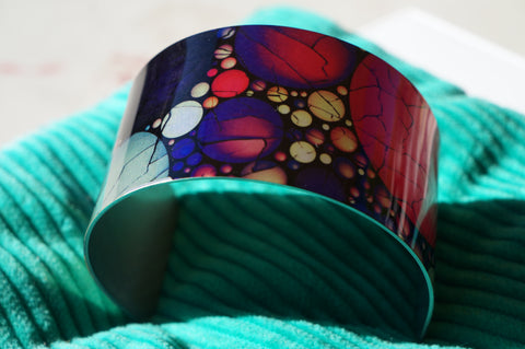 'Particle' - Aluminium designer cuff/bangle/bracelet